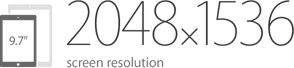 2048x1536 screen resolution