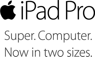 iPad Pro. Super. Computer. Now in two sizes.