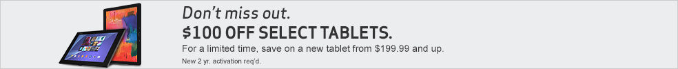 Don't miss out. $100 off select tablets.