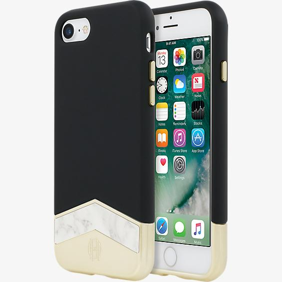 1960 Slider Case for iPhone 7 - Black/White Marble