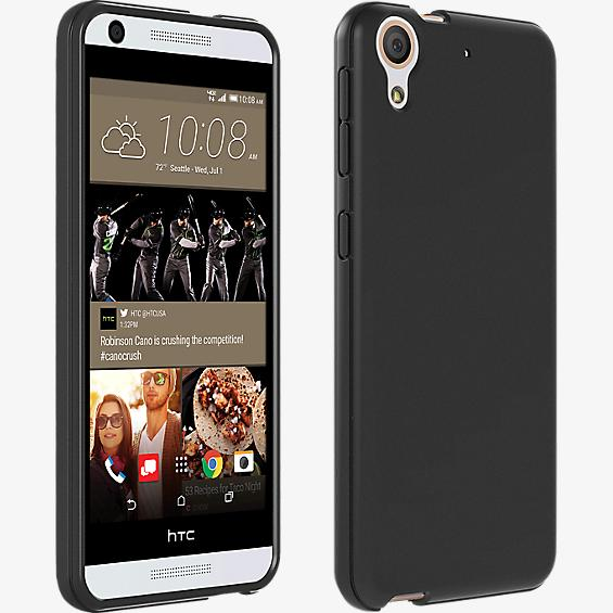 High Gloss Silicone Cover for HTC Desire 626 - Black