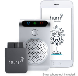 hum+ works across cell phone carriers  service is dependent on the obd  reader being plugged in and the vehicle being in a vzw wireless coverage  area