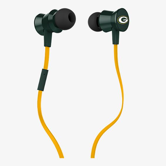 NFL Protech Metal Earbud with Mic - Green Bay Packers