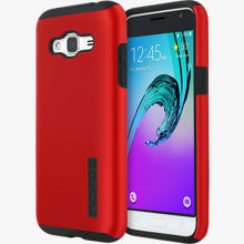 DualPro Case for Galaxy J3 V - Iridescent Red/Black