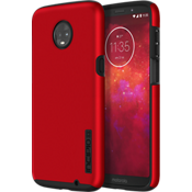 DualPro Case for moto z3 - Iridescent Red/Black