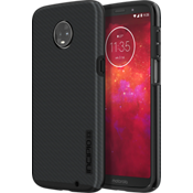 DualPro Shine Case for moto z3 - Carbon Fiber