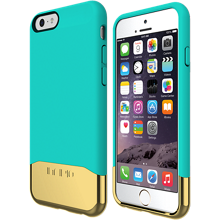 EDGE Chrome for iPhone 6/6s - Teal/Gold