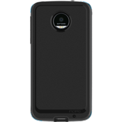 Performance Series Level 4 Case for Moto Z Droid - Black/Cyan
