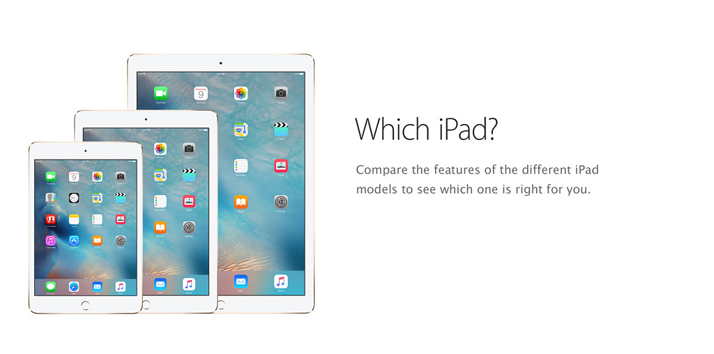 Which iPad? Compare the features of the different iPad models to see which one is right for you.