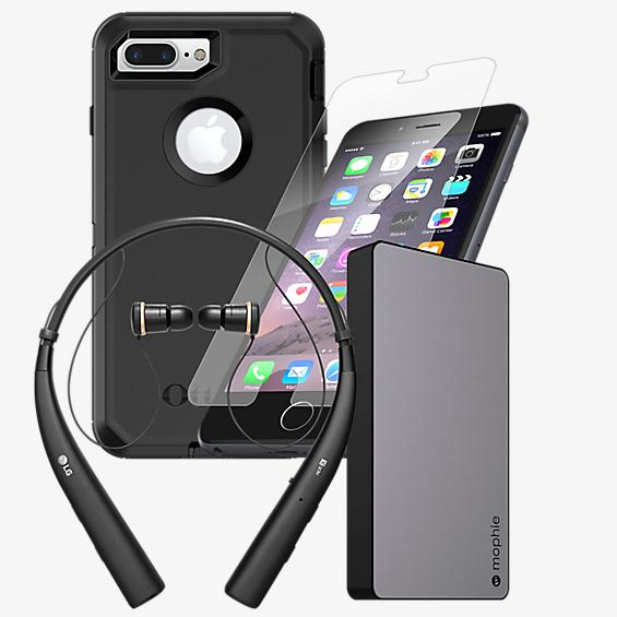 OtterBox Defender Power, Protection, & Headset Bundle for iPhone 8 Plus