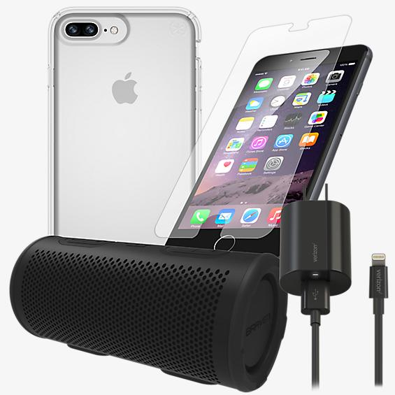Presidio Clear Power, Protection, & Stereo Bundle for iPhone 8 Plus
