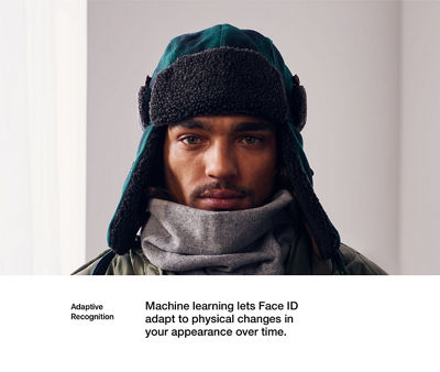 Adaptive Recognition: Machine learning lets Face ID adapt to physical changes in your appearance over time.