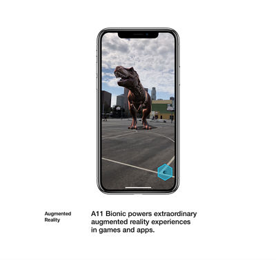 Augmented Reality: A11 Bionic powers extraordinary augmented reality experiences in games and apps.