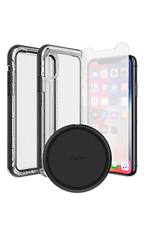 more photos c61ae 81b60 Lifeproof NEXT Case, Protection and Wireless Charging Bundle for iPhone XS/X