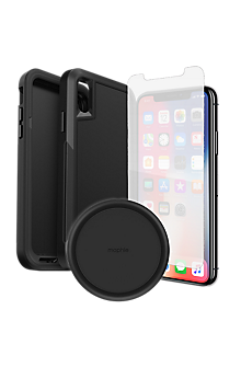 separation shoes a01df fba26 OtterBox Pursuit Case, Protection and Wireless Charging Bundle for iPhone  XS/X