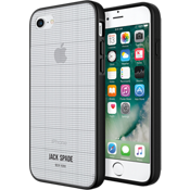 Printed Clear Case for iPhone 7 - Graph Check/Clear