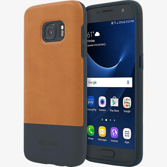 Color-Block Case for Galaxy S7 - Fulton Tan/Navy