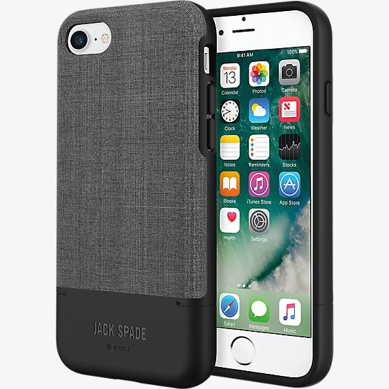 Credit Card Case for iPhone 7 - Tech Oxford Gray/Black