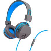 Jbuddies Volume Safe Over-Ear Headphones with Mic - Graphite/Blue