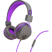 Jbuddies Volume Safe Over-Ear Headphones with Mic - Graphite/Purple