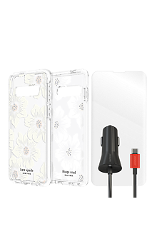 premium selection 14f02 cc1bf kate spade Defensive Hardshell Case, Protection & Car Charging Bundle for  Galaxy S10