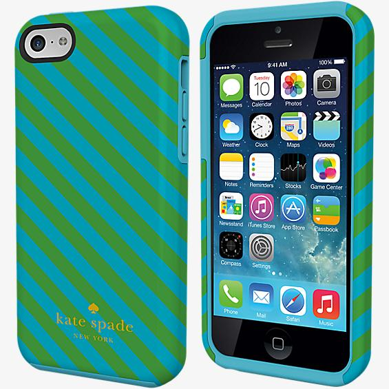 Dual Layer Case for iPhone 5c - Diagonal Stripe