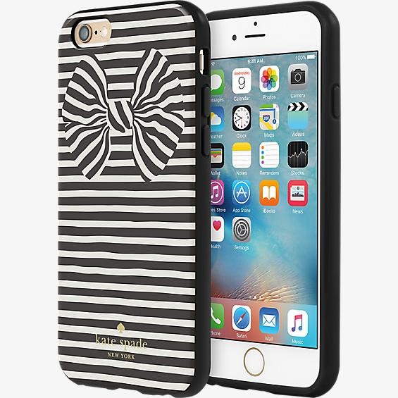 Flexible Hardshell Case for iPhone 6/6s - Painterly Bow Black Foil/Cream