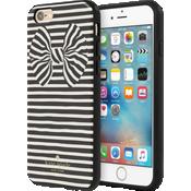 Flexible Hardshell Case for iPhone 6/6s - Painterly Bow Black Foil/Cream