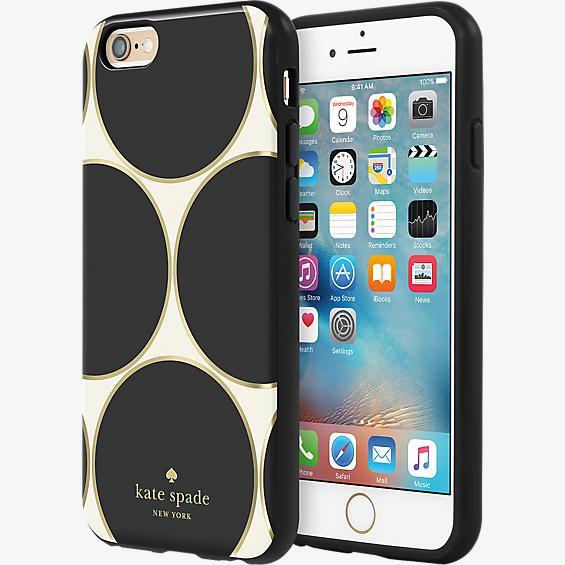 Flexible Hardshell Case for iPhone 6/6s - Deborah Dot Cream/Black/Gold Foil