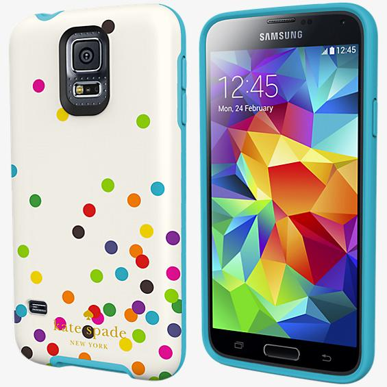 Flexible Hardshell Case for Samsung Galaxy S 5 - Confetti