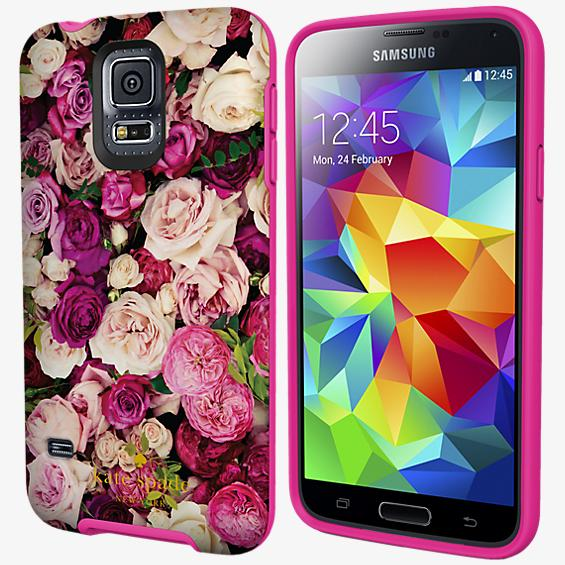 Flexible Hardshell Case for Samsung Galaxy S 5 - Photographic Roses
