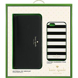 Gift Set - Zip Wristlet & Flexible Hardshell Case for iPhone 6/6s