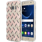 Hardshell Clear Case for Galaxy S7 - Chevron Rose Gold Foil/Clear