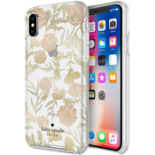 Protective Hardshell Case for iPhone XS/X - Pink/Gold