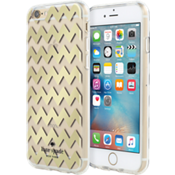 Hardshell Clear Case for iPhone 6/6s - Chevron Gold Foil/Clear