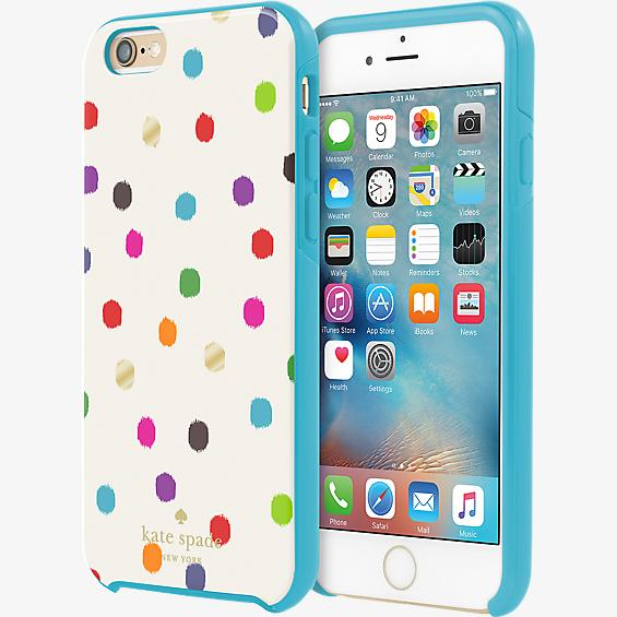 Hybrid Hardshell Case for iPhone 6/6s - Ikat Dot
