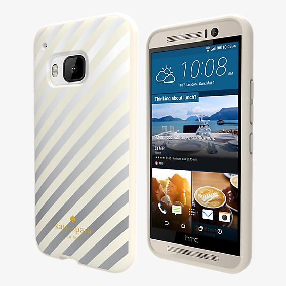 Flexible Hardshell Case for HTC One M9 - Diagonal Stripes