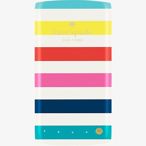 4000mAh portable backup battery - candy stripe