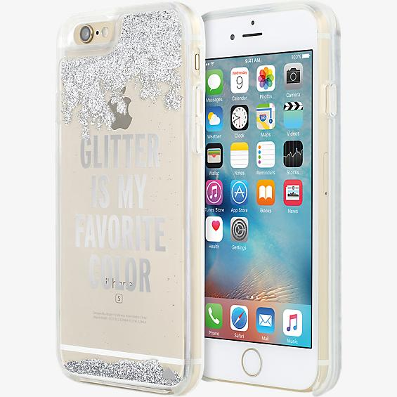 Clear Liquid Glitter Case for iPhone 6/6s - Glitter is My Favorite Color (Silver)