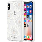 Defensive Hardshell Case for iPhone XS/X - Hollyhock Floral Clear