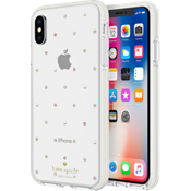Defensive Hardshell Case for iPhone XS/X - Pin Dot Gems/Pearls/Clear