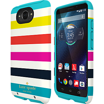 Dual Layer Case for Droid Turbo - Candy Stripe