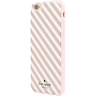Flexible Hardshell Case for iPhone 6/6s - Rose Gold Diagonal Stripe