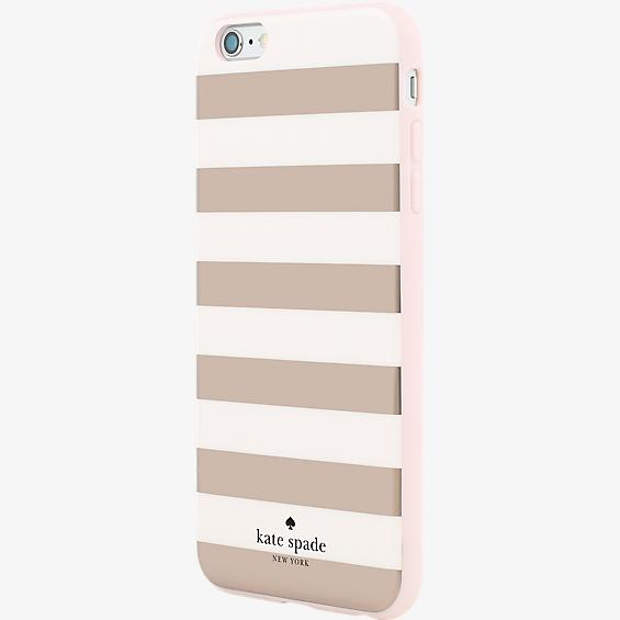 Flexible Hardshell Case for iPhone 6 Plus/6s Plus - Candy Stripe Rose Gold