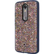 Flexible Hardshell Case for DROID Turbo 2 - Multi Glitter/Navy
