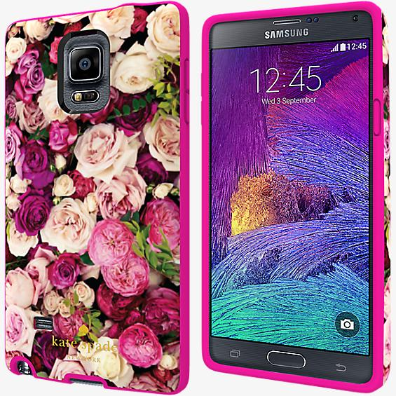 Flexible Hardshell Case for Galaxy Note 4 - Photographic Rose