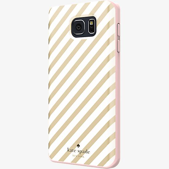 Flexible Hardshell Case for Samsung Galaxy Note 5 - Gold Diagonal Stripe