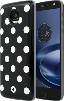 Kate Spade New York StylePack Moto Mod for Moto Z Droid, Moto Z Force Droid - Blue Black/White Dot