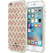 Hardshell Clear Case for iPhone 6/6s - Chevron Rose Gold/Clear