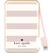Slim Battery Bank 1500 mAh for Lightning Devices - Candy Stripe, Cream Rose Gold Foil